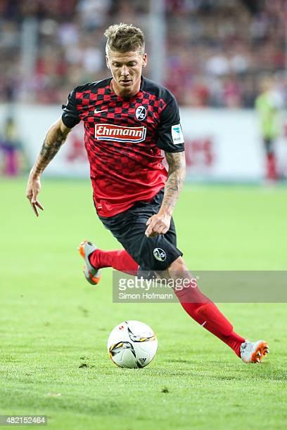 Mike Frantz of Freiburg controls the ball during the 2 Bundesliga match between SC Freiburg and 1 FC Nuernberg at SchwarzwaldStadion on July 27 2015...