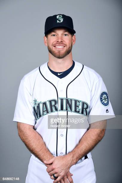 Mike Freeman of the Seattle Mariners poses during Photo Day on Monday February 20 2017 at Peoria Sports Complex in Peoria Arizona