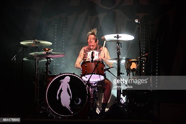 Mike Fuentes Pierce the Veil perform at Fillmore Miami Beach on February 24 2015 in Miami Beach Florida