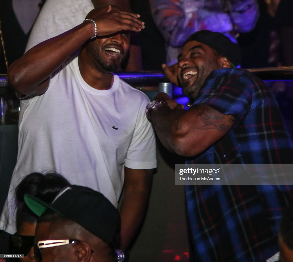 Mike Gardner and Jim Jones at LIV nightclub at Fontainebleau Miami on October 1, 2017 in Miami Beach, Florida.