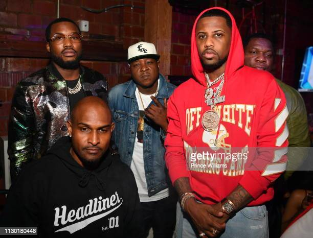 Mike Gardner Meek Mill Jadakiss and Fabolous attend 2019 All Star weekend Party Hosted by Lil Baby Fabolous at Oak on February 16 2019 in Charlotte...