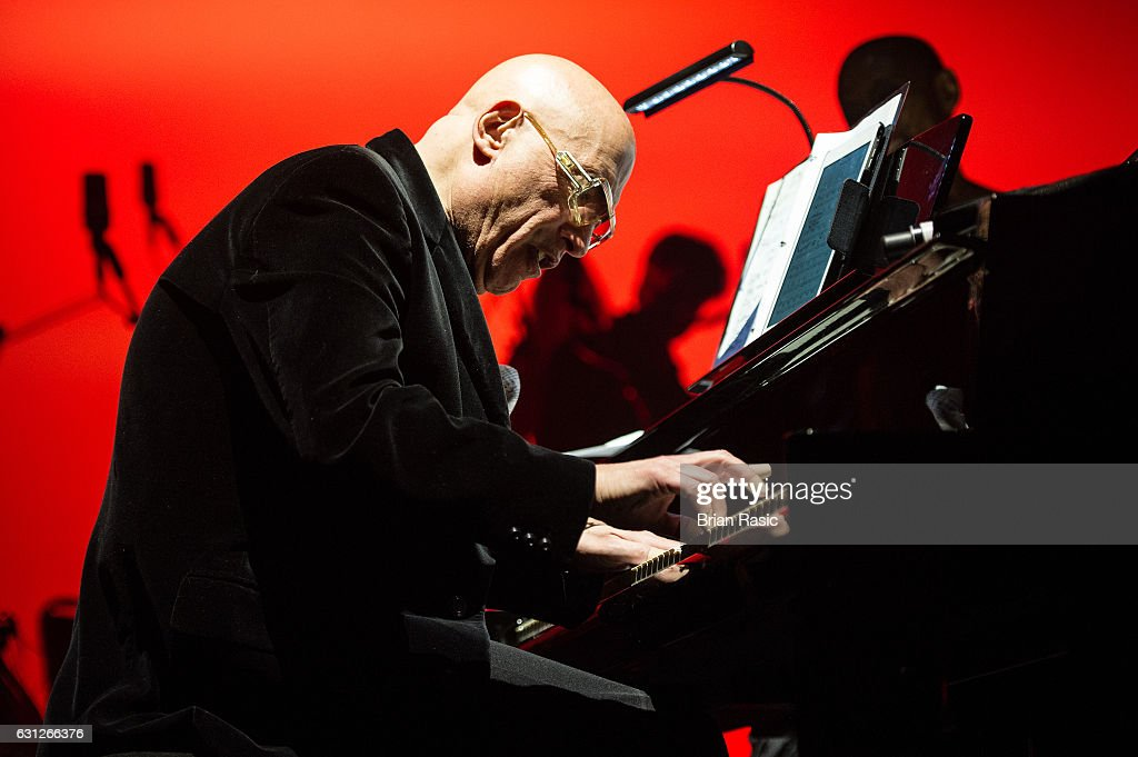 Mike Garson performs during a special concert Celebrating David Bowie With Gary Oldman & Friends on what wold have been Bowie's 70th birthday at O2 Academy Brixton on January 8, 2017 in London, England.