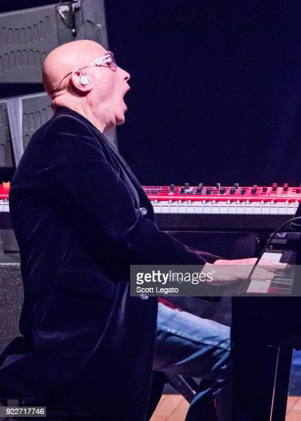 Mike Garson performs during the Celebrating David Bowie concert at The Royal Oak Music Theater on February 19 2018 in Royal Oak Michigan