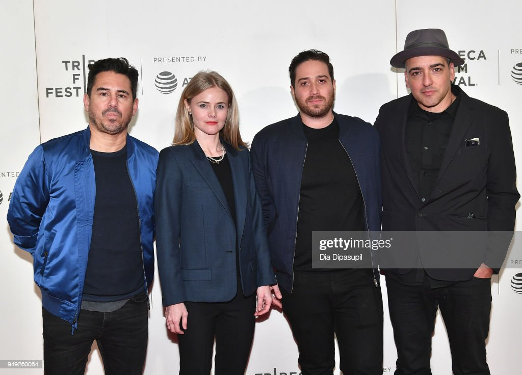 Mike Gasparro, Julia Willoughby Nason, Jenner Furst and Chachi Senior attend the 'Rest In Power: The Trayvon Martin Story' premiere during the 2018 Tribeca Film Festival at BMCC Tribeca PAC on April 20, 2018 in New York City.