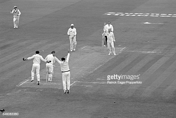 Mike Gatting of England is bowled by the first delivery from Shane Warne of Australia during the 1st Test match between England and Australia at Old...
