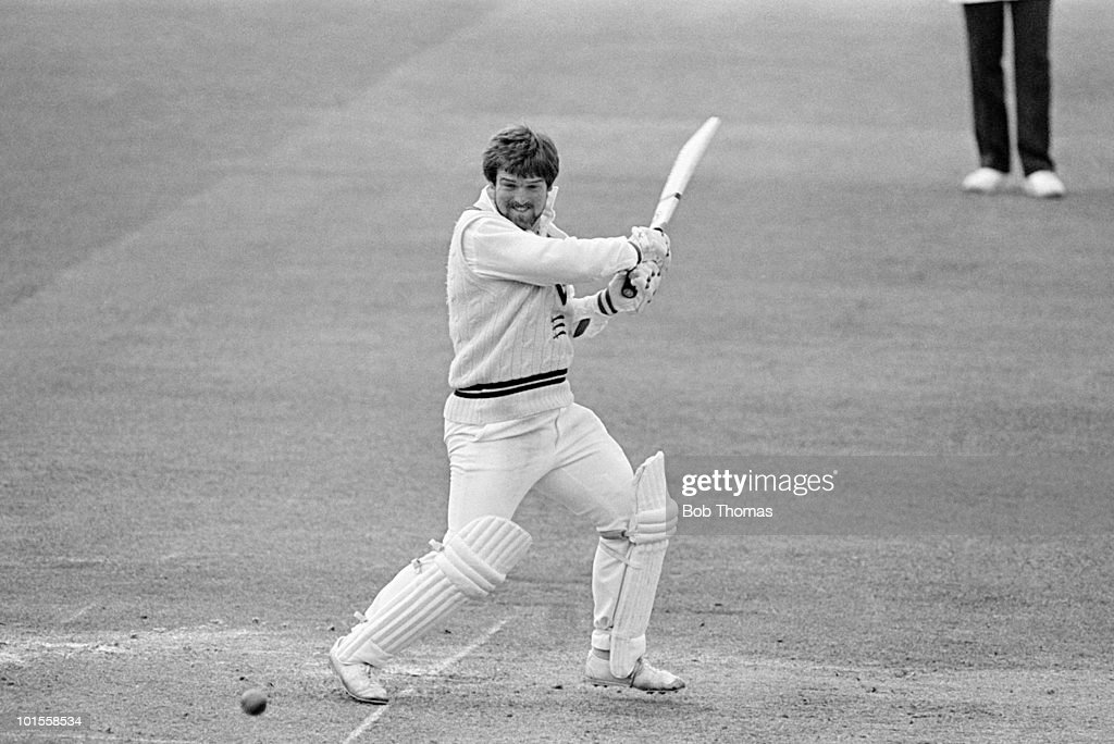 Mike Gatting of Middlesex during the Middlesex v Gloucestershire John Player League match played at Lords cricket ground, London on the 12th May 1985.