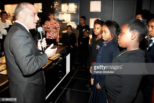 Mike Giannattasio and The Emmanuel Baptist Church New Generation Children's Choir attend MONTBLANC Celebrates The Vision of NELSON MANDELA & The...