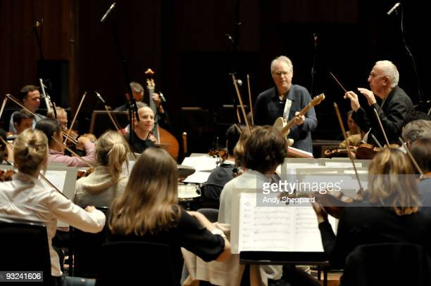 Mike Gibbs performs on stage at The Barbican with the BBC Symphony Orchestra as part of the London Jazz Festival 2009 on November 19, 2009 in London,...