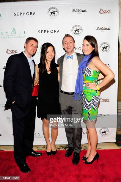 Mike Goin Ally Ouh Tom Christianson and Cathryn Icaza attend NEW YORK JUNIOR LEAGUE'S SPRING AUCTION 2010 at Capitale on April 23 2010 in New York...