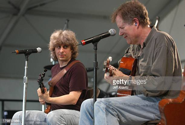 Mike Gordon and Leo Kottke during 2003 Bonnaroo Music Festival Night Two at Bonnaroo Fairgrounds in Manchester Tennessee United States