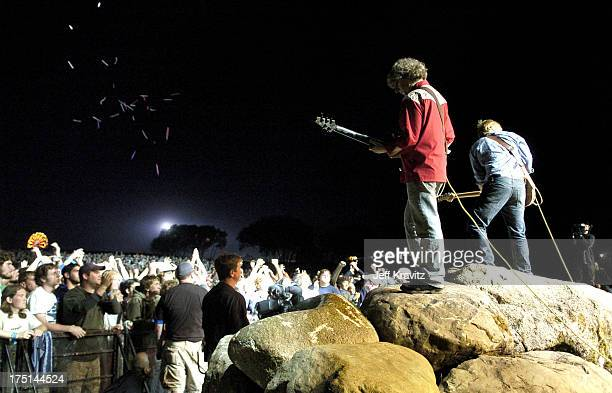 Mike Gordon and Trey Anastasio of Phish during Phish Coventry Festival 2004 - Day 1 at Coventry in Newport, Vermont, United States.