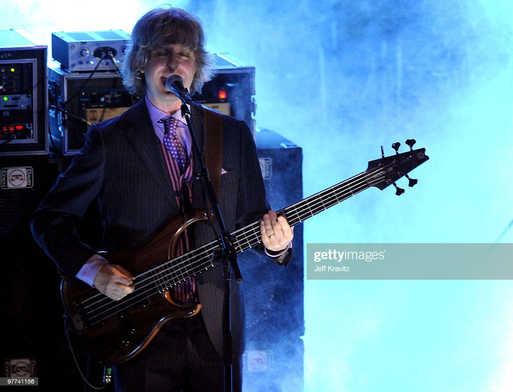 Mike Gordon of Phish performs onstage at the 25th Annual Rock and Roll Hall of Fame Induction Ceremony at the Waldorf=Astoria on March 15, 2010 in New York City.