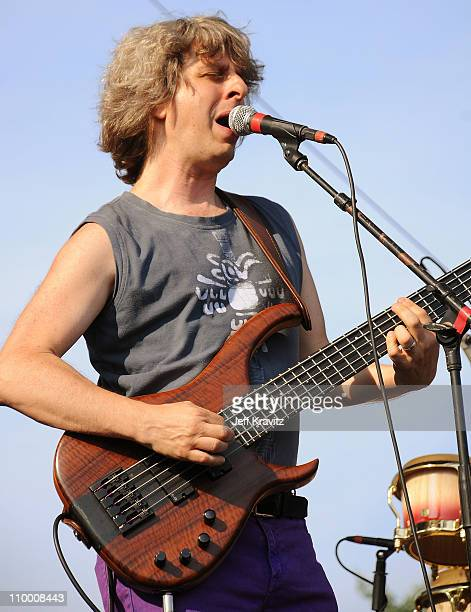 Mike Gordon performs on the Ranch Sherwood Court Stage during the Rothbury Music Festival 08 on July 6 2008 in Rothbury Michigan
