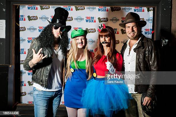 Mike Gossin Emily Brooke Rachel Reinert Tom Gossin attend the TJ Martell Foundation's Battle for the Bones for the Linds Sarcoma Fund at Losers Bar...
