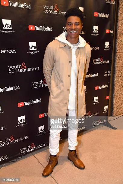 Mike Gray attends the YouTube Red Originals Series 'Youth Consequences' screening on February 28 2018 in Los Angeles California