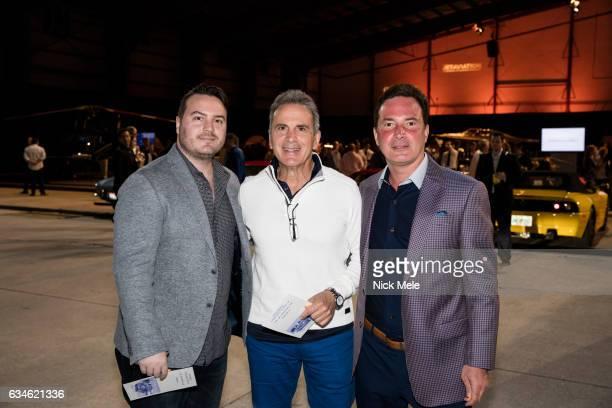 Mike Graziano Tom Graziano and Scott DeCarolis attend JET AVIATION'S 17th Annual LA BELLA MACCHINA at Palm Beach International Airport on January 26...
