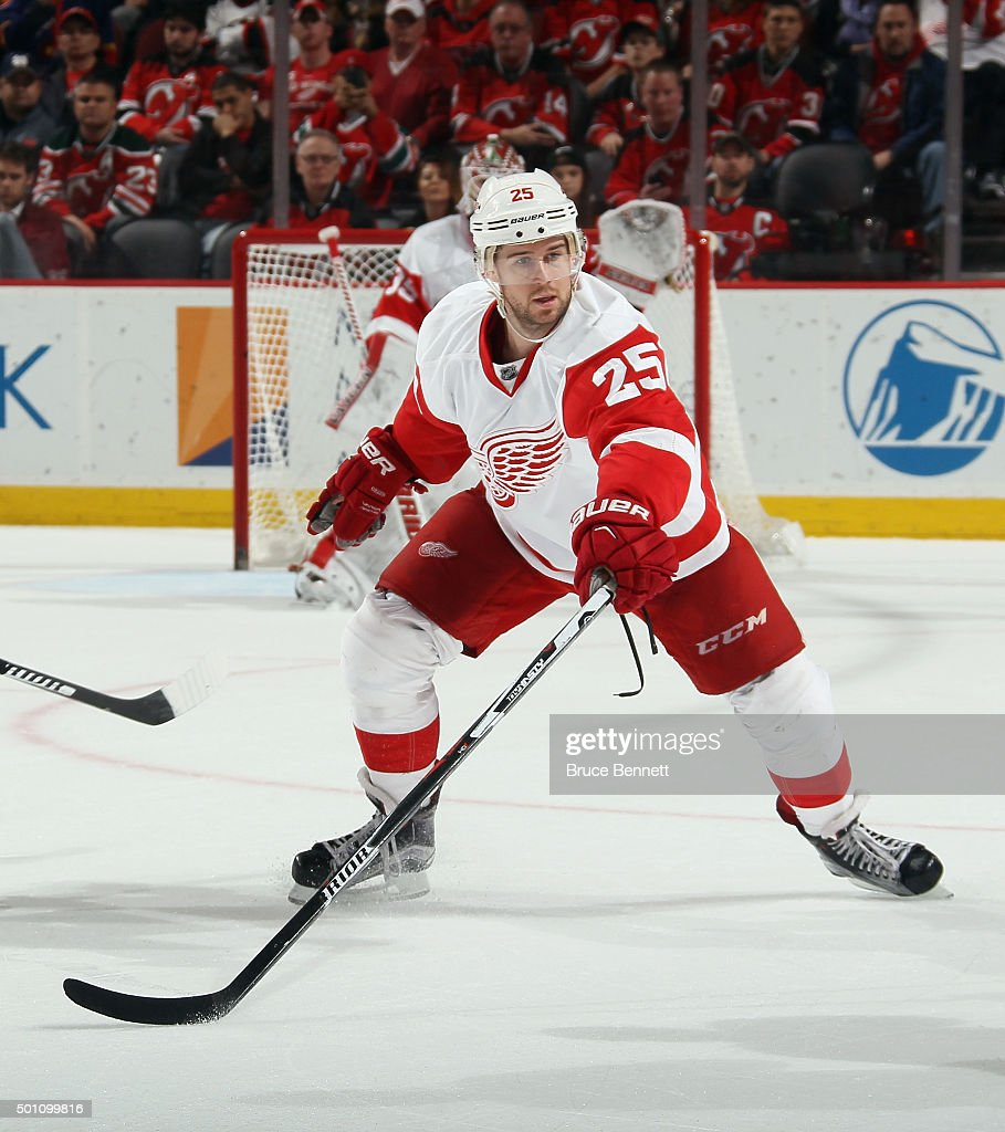 reputable site a60c6 cd194 Mike Green of the Detroit Red Wings skates against the New ...