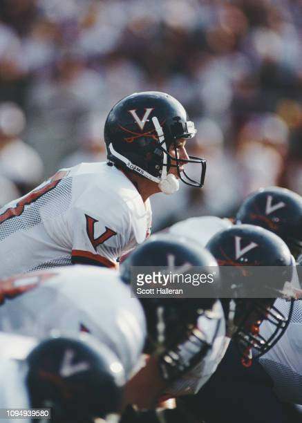 Mike Groh Quarterback for the University of Virginia Cavaliers calls the play at the snap during the NCAA Atlantic Coast Conference college football...