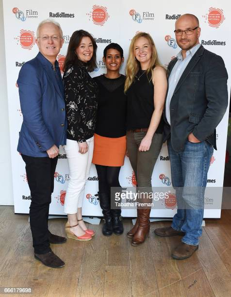 Mike Gunton Elizabeth White Naga Munchetty guest and James Honeyborne attend the BFI Radio Times TV Festival at the BFI Southbank on April 8 2017 in...