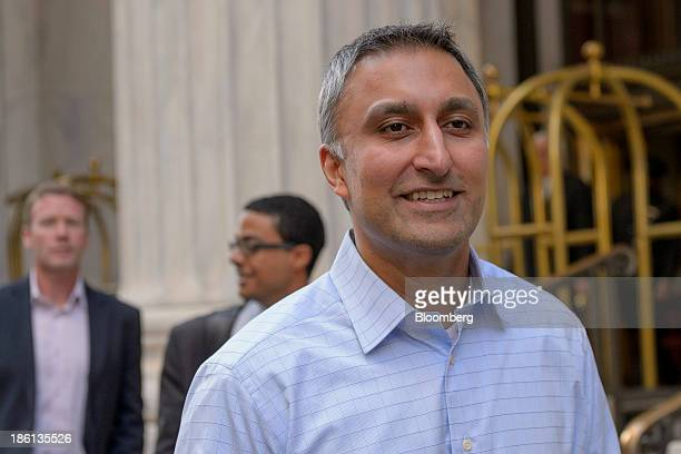 Mike Gupta chief financial officer of Twitter Inc departs the RitzCarlton Hotel in Philadelphia Pennsylvania US on Monday Oct 28 2013 The San...