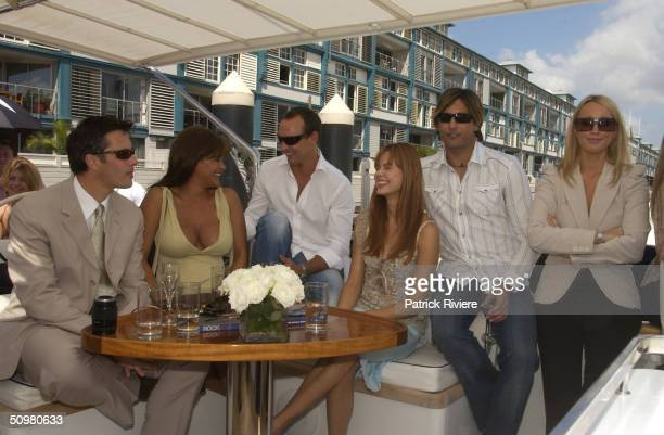 Mike Hammond Jacqui Saunders Lochie Daddo Karen Fisher Jackie O and Stuart Bedford Brown at the Tommy Hilfiger Summer Fashion Show held at Otto...