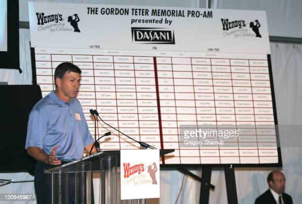 Mike Harley during LPGA 2004 Wendy's Championship for Children Gordon Teter Memorial ProAm Draw Party in Dublin Ohio United States Photo by Gregory...