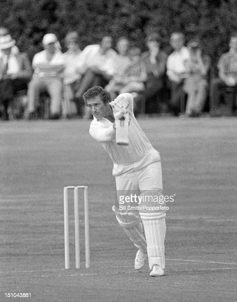 Mike Harris batting for Nottinghamshire during their John Player League match against Worcestershire at Dudley 8th July 1973 Nottinghamshire won by 3...