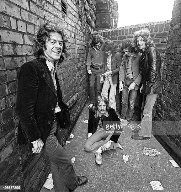 Mike Harrison with his band Junkyard Angel photographed in Carlisle on 26th June 1971 LR Mike Harrison Ian Herbert unknown Frank Kenyon Kevin Iverson...