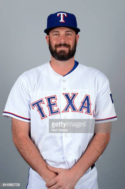 Mike Hauschild of the Texas Rangers poses during Photo Day on Wednesday February 22 2017 at Surprise Stadium in Surprise Arizona
