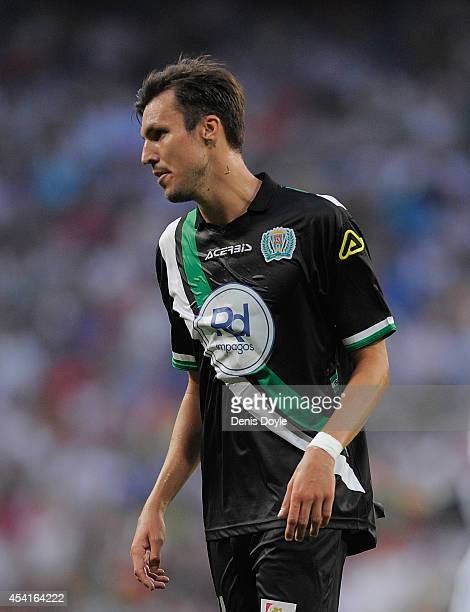 Mike Havenaar of Crodoba CF looks on during the La liga match between Real Madrid CF and Cordoba CF at Estadio Santiago Bernabeu on August 25 2014 in...