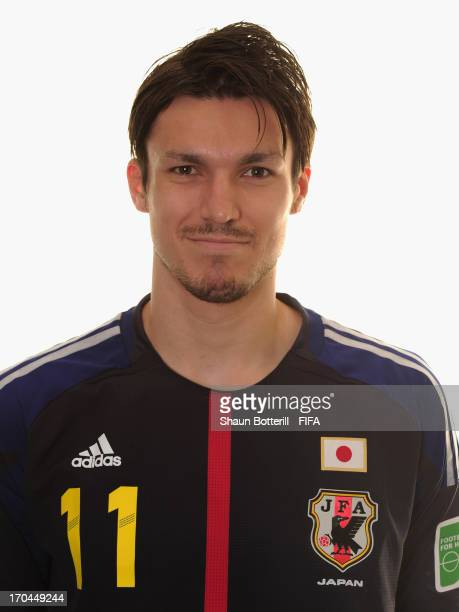 Mike Havenaar of Japan poses for a portrait at the Kubistchek Plaza Hotel on June 13 2013 in Brasilia Brazil