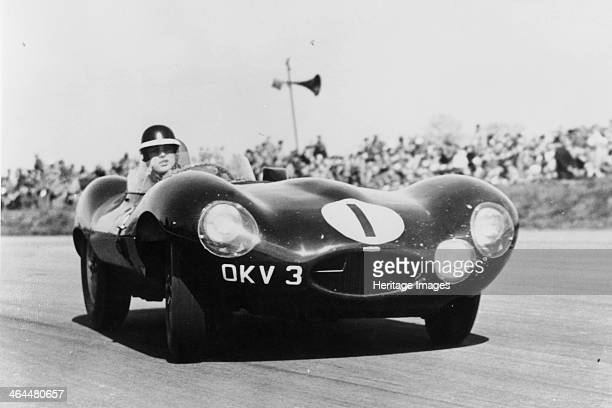Mike Hawthorn driving a D Type Jaguar c1955c1956 He won the Le Mans 24 Hours in a D type in 1955 Hawthorn was England's first World Champion driver...