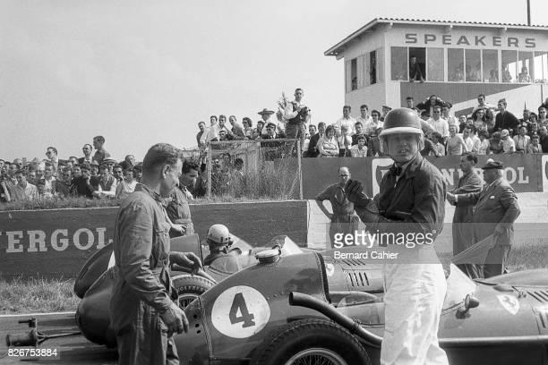 Mike Hawthorn Luigi Musso Ferrari Dino 246 Grand Prix of France Reims 06 July 1958