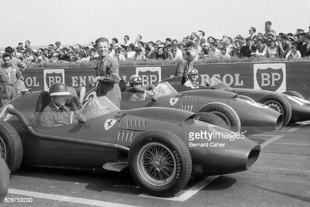 Mike Hawthorn Luigi Musso Harry Schell Ferrari Dino 246 BRM P25 Grand Prix of France Reims 06 July 1958