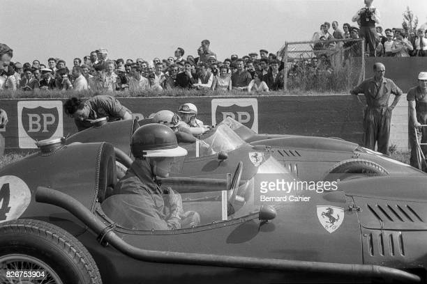 Mike Hawthorn Luigi Musso Harry Schell Grand Prix of France Reims 06 July 1958
