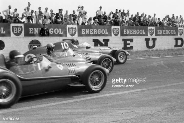 Mike Hawthorn Luigi Musso Tony Brooks Ferrari Dino 246 Vanwall VW5 Grand Prix of France Reims 06 July 1958