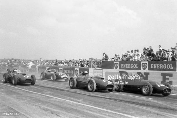 Mike Hawthorn Tony Brooks Luigi Musso Harry Schell Ferrari Dino 246 Vanwall VW5 BRM P25 Grand Prix of France Reims 06 July 1958