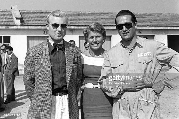 Mike Hawthorn, Umberto Maglioli, Grand Prix of Italy, Autodromo Nazionale Monza, 13 September 1953. A relaxed Mike Hawthorn with Ferrari teammate...