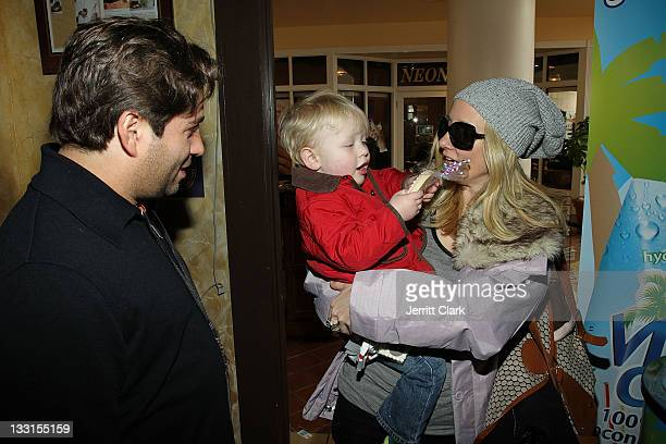 Mike Heller actress Anne Heche and son Atlas Heche Tupper attend the TR Suites at the Gateway Center on January 22 2011 in Park City Utah