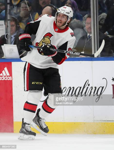 Mike Hoffman of the Ottawa Senators during the game against the Buffalo Sabres at the KeyBank Center on December 12 2017 in Buffalo New York