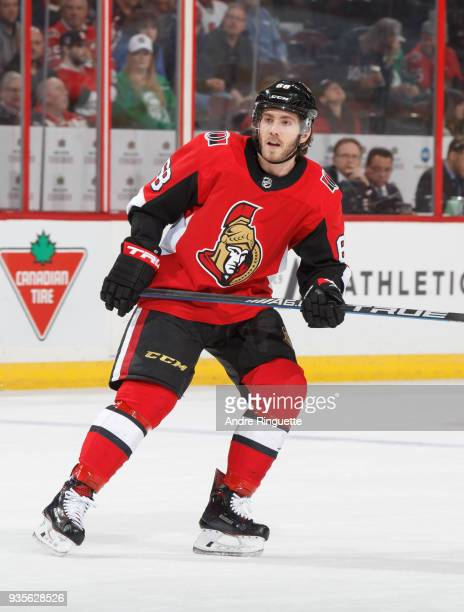 Mike Hoffman of the Ottawa Senators skates against the Dallas Stars at Canadian Tire Centre on March 16 2018 in Ottawa Ontario Canada