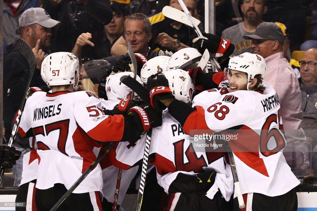 Ottawa Senators v Boston Bruins - Game Six : News Photo