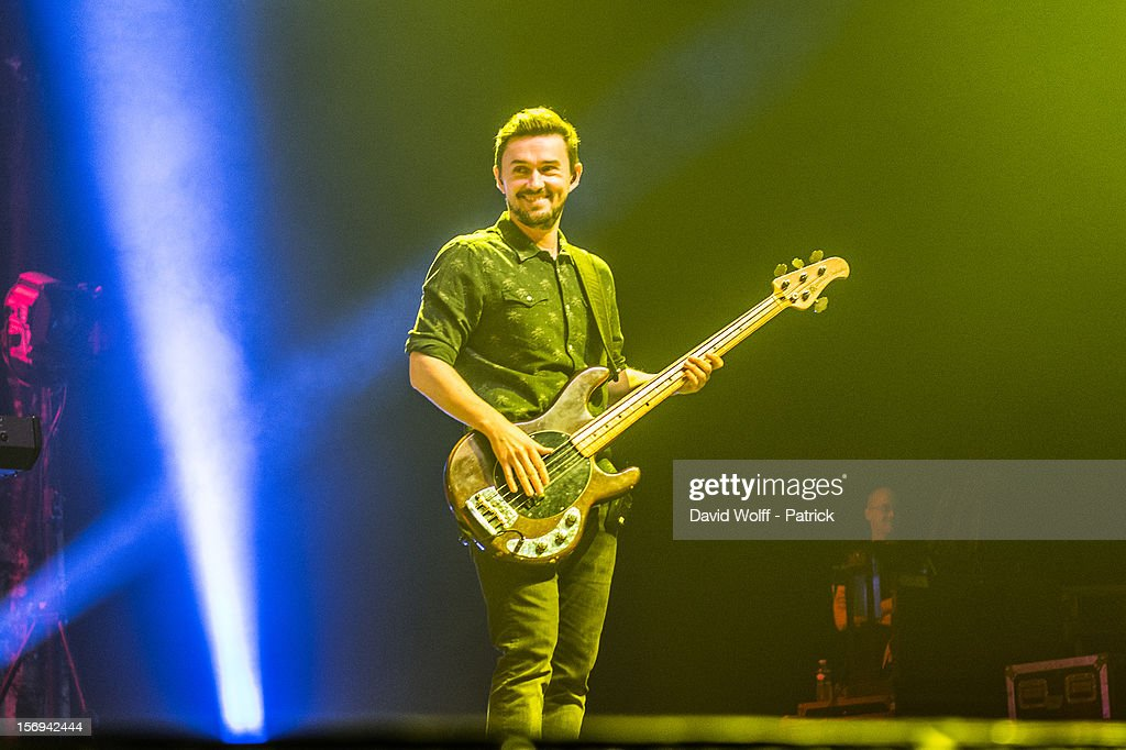 Mike Hogan from The Cranberries performs at Le Zenith on November 25, 2012 in Paris, France.