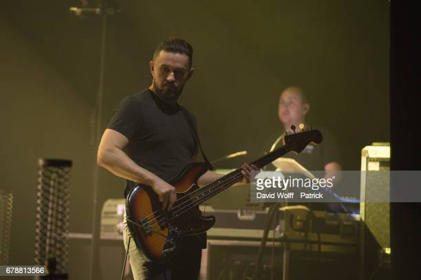 Mike Hogan from The Cranberries performs at L'Olympia on May 4 2017 in Paris France