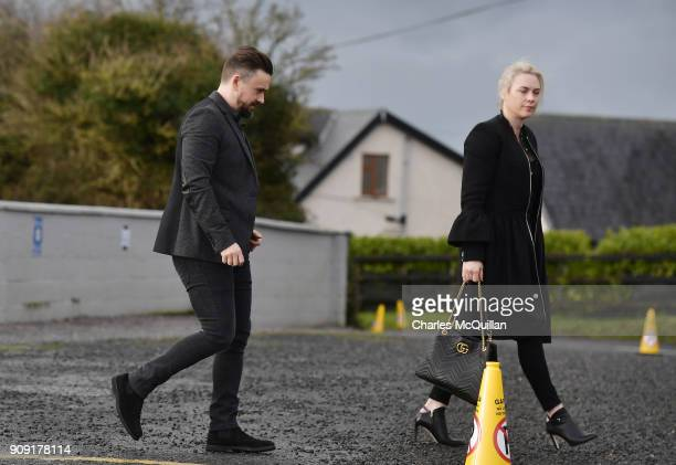 Mike Hogan member of The Cranberries attends the funeral of Dolores O'Riordan at St Ailbe's Church Ballybricken on January 23 2018 in Limerick...