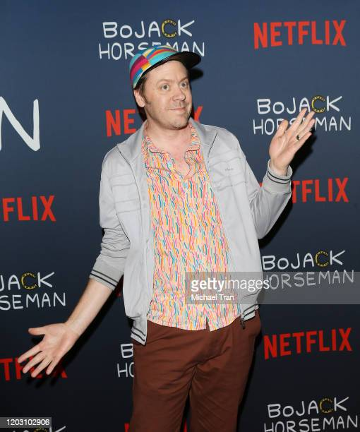Mike Hollingsworth attends the Los Angeles premiere of Netflix's Bojack Horseman Season 6 held at the Egyptian Theatre on January 30 2020 in...