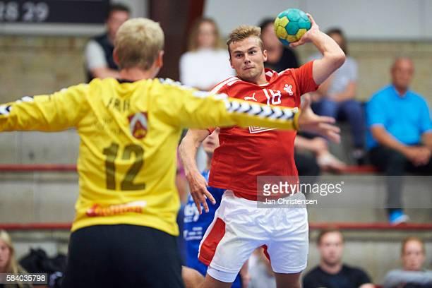 Mike Holm Haack of Denmark in action during the danish u20 testmatch at Spektrum Odder on June 16 2016 in Odder Denmark