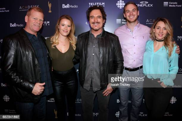 Mike Holmes Sherry Holmes Kim Coates Mike Holmes Jr and Lisa Grant attend the Academy of Canadian Cinema and Television's Family Fan Day 2017 at the...