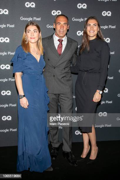 Mike Horn GQ Explorer of the decade with his daughters Jessica and Annika attend GQ Men Of The Year Awards 2018 at Centre Pompidou on November 26...