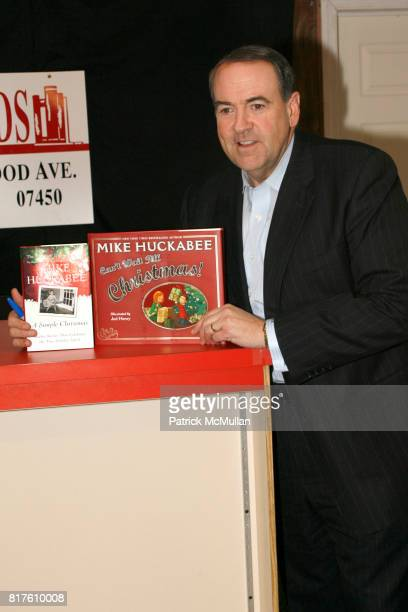 """Mike Huckabee attend book signing of Mike Huckabee's """"Can't Wait Till Christmas"""" and """"A Simple Christmas"""" at BookEnds on December 4th, 2010 in..."""